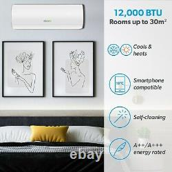 12000 BTU WIFI Smart A+++ easy-fit DC Inverter Wall Split Air Conditioner with H