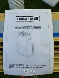 12000 BTU portable air conditioner and dehumidifier. Challenge for Homebase