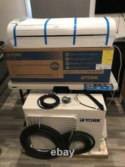 12,000 Btu Ductless Air Conditioner Heat Pump, Mini Split 220v 1 Ton With Kit