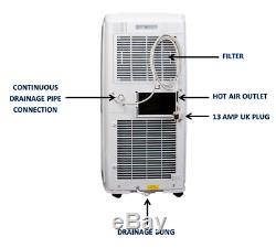 12,000 Btu Portable Air Conditioning Unit Blu By Gree Free Next Day Del