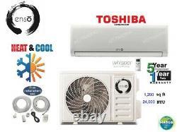 24000 BTU Ductless Air Conditioner, Heat Pump Mini Split 220V 2TON withkit