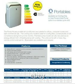 3.5kW Pump House Portable Air Conditioner, Bed Room Air Conditioning 12000 BTU