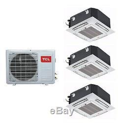 3 Way Ceiling Cassette system 27000 BTU 8kW A++/A+ SmartApp Wif iQool-C3MS9K9K9K