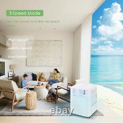 4in1 9000BTU Portable Air Conditioner Unit Fan Dehumidifier Remote Control 2.6KW