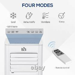 5000BTU Portable Air Conditioner 4 Modes LED Display 24 Timer Home Office White