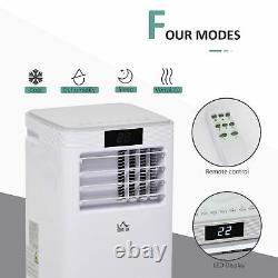 8000BTU Portable Air Conditioner 4 Modes LED Display 24 Timer Home Office White