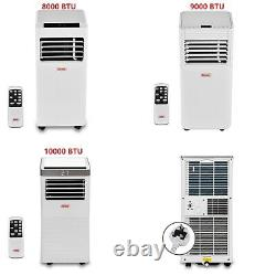 8000-10000BTU Portable Air Conditioner Remote Control Cooling Timer Window Kit