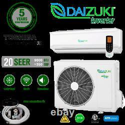 9000 BTU Air Conditioner MiniSplit 20 SEER 115V INV ACDuctless Heat Pump Daizuki