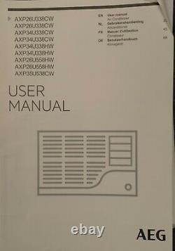 AEG ChillFlex Pro AXP26U338CW Portable Air Conditioner, 9000 BTU, White