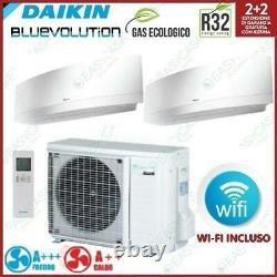 DAIKIN Air Conditioner Emura Dual 2MXM50M+FTXJ35MW+FTXJ35MW 12000+12000BTU Weiß