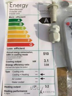 ECO AIR CONDITIONING THROUGH WALL UNIT 3.2 Kw 11000 btu COOLING & HEATING BNIB