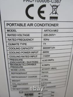 EcoAir Artica MK2 8000 BTU Portable Air Conditioning WiFi For Parts