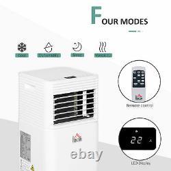 HOMCOM 10000 BTU Portable Air Conditioner 4 Modes LED Display Timer Home Office
