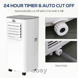 HOMCOM 5000BTU Portable Air Conditioner 4 Modes LED Display Timer Home Office