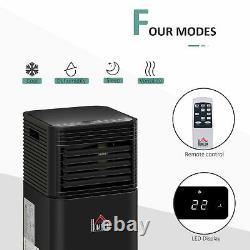 HOMCOM 5000 BTU Portable Air Conditioner 4 Modes LED Display Timer Home Office