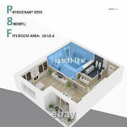 HOMCOM 8000BTU Portable Air Conditioner 4 Modes LED Display Timer Home Office