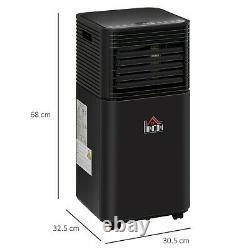 Homcom 8000 BTU Portable Air Conditioner 4 Modes LED Display Timer