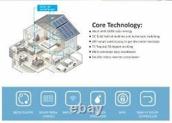JNTECH 12000BTU Solar ACDC Inverter Ductless Mini Split Air Conditioner & Heater