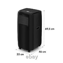Klarstein Portable Air Conditioner 3-in-1 9,000 BTU / 2.6 kW Black