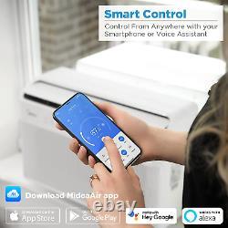Midea U Inverter Window Air Conditioner 8,000BTU, U-Shaped AC with Open Window