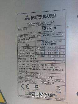 Mitsubishi Air Conditioning FDUM140VF Indoor Fan Coil Unit Ducted MHi 48000 btu