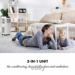 Mobile Air Conditioner Cooling Dehumidifier Home Office 7000 BTU A Remote White