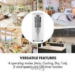 Mobile Air Conditioner Cooling Portable 7000 BTU Class A Remote Room Timer White