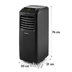 Mobile Air Conditioner Home Office Dehumidifier 9000 BTU 2.6 kW A Remote Black