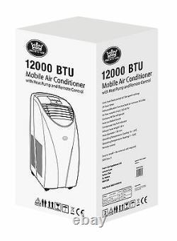 Prem-I-Air 12000 BTU White Portable Air Con Conditioner, Dehumidifier & Heater