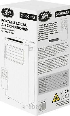 Premiair White 5000 BTU Portable Local Air Con Conditioner Unit & Remote Control