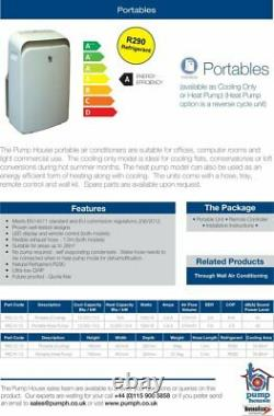 Pump House PAC-C-12 mobile air conditioning cooling only unit 3.5kW (12.000 BTU)