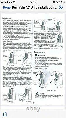 Pump House Portable Air Conditioning Large Capacity 12000Btu. UK Seller