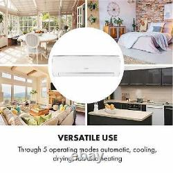 Split Air Conditioner Cooling unit Room Home Office A++ 12000 BTU/h Remote White