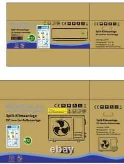 Split Air Conditioning Air Conditioner a/C Inverter 9000 Btu R32 2,6 Kw A