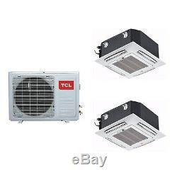 Twin Ceiling Cassette system 24000 BTU 6kW A++/A+ SmartApp Wifi iQool-C2MS12K12K