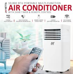 1114w Climatiseur Portable 10000btu, Déshumidificateur, Wifi, Télécommande, Grade A