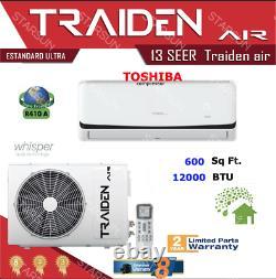 12000 Btu Ductless Air Conditioner, Pompe À Chaleur Mini Split 220v 1 Tonne Avec Kit