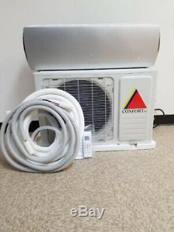 12 000 Btu Ductless Climatiseur, Pompe À Chaleur Mini Split 220 V 1 Tonne Avec / Kit