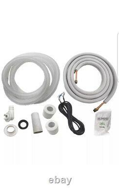 12 000 Btu Système Climatiseur Sans Conduit, Thermopompe Mini Split 110v 1 Tonne Avec Kit