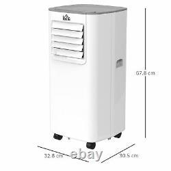 5000btu Climatiseur Portable 4 Modes Affichage Led 24 Minuterie Bureau Maison Blanc