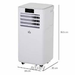 8000btu Portable Climatiseur 4 Modes Affichage Led 24 Minuterie Bureau Maison Blanc