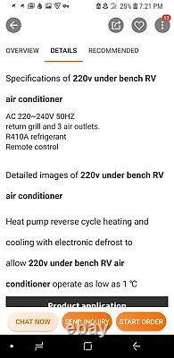 9k Btu 220v Sous Banc Rv Climatiseur Autonome Camping-car Ac