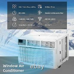 Aeroplus Aarc8re1 350 Sq Ft 8000 Btu Climatiseur De Fenêtre Et Déshumidificateur