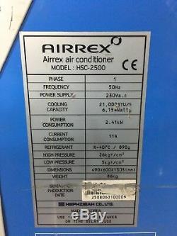 Airrex Hsc-2500 Heavy Duty Portable Unité Climatiseur / Conditionnement 21k Btu