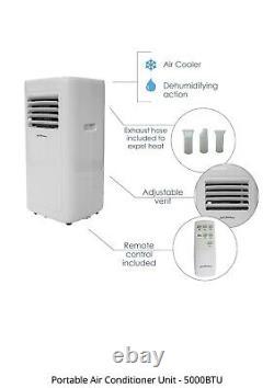 Appareil De Climatisation Portable Et Silencieux 5000btu 3 En 1 Déshumidificateur