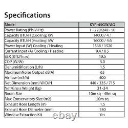 Climatiseur Mobile 14000 Btu Télécommande Minuterie Numérique Réglable À Distance