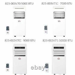 Climatiseur Mobile Avec Télécommande Refroidissement Mode De Couchage Blanc