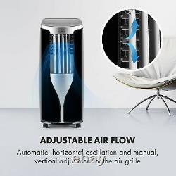 Climatiseur Mobile Refroidissement Portable 7000 Btu Class A Remote Room Minuter Noir