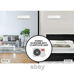 Climatiseur Mural Smartapp Wifi Multi-split Avec Deux Indoo 12000 Btu