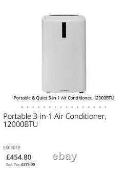 Climatiseur Portable 3-en-1, Déshumidificateur 12000btu